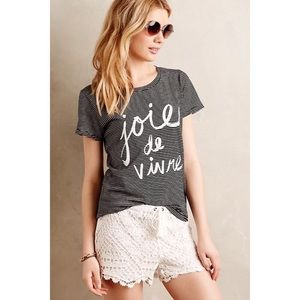 Anthropologie Sol Angeles Joie de Vivre Tee
